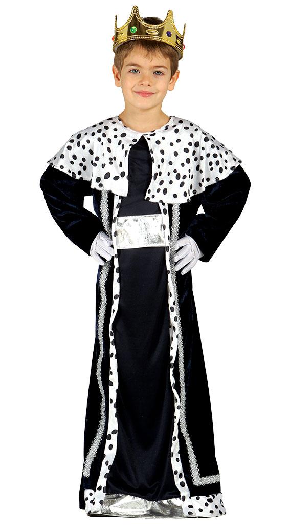 c774e47f0 Guirca Detský kostým Kráľ Melichar – čierny Veľkosť – deti: S – Výška  95-105 cm