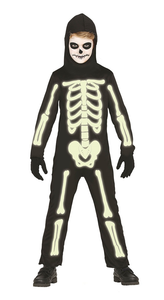 9e0096937 Guirca Detský kostým Svietiaca kostra Veľkosť – deti: L – Výška 125-135 cm